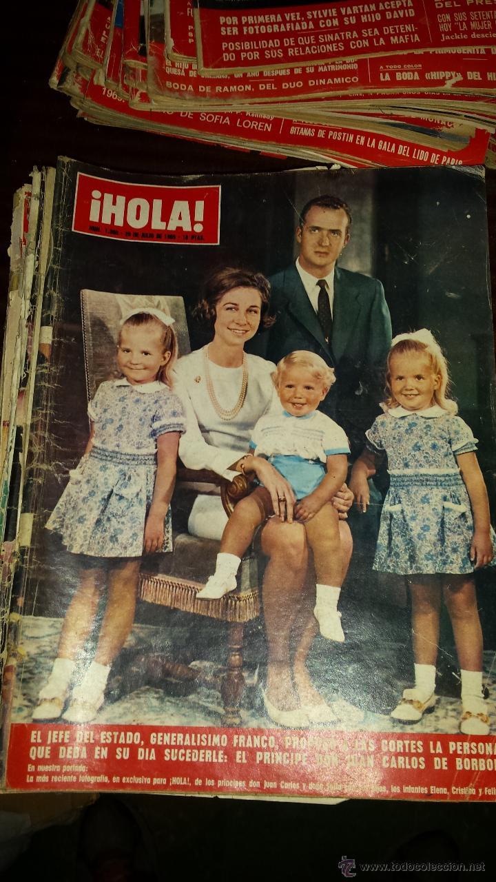 Coleccionismo de Revista Hola: Lote 114 revistas HOLA años 60, 70 y 3 de principios de los 80 - Ver detalles se venden sueltas 5€ - Foto 66 - 117723528