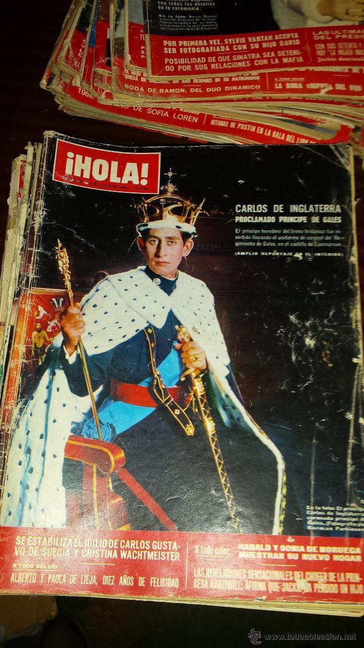 Coleccionismo de Revista Hola: Lote 114 revistas HOLA años 60, 70 y 3 de principios de los 80 - Ver detalles se venden sueltas 5€ - Foto 68 - 117723528