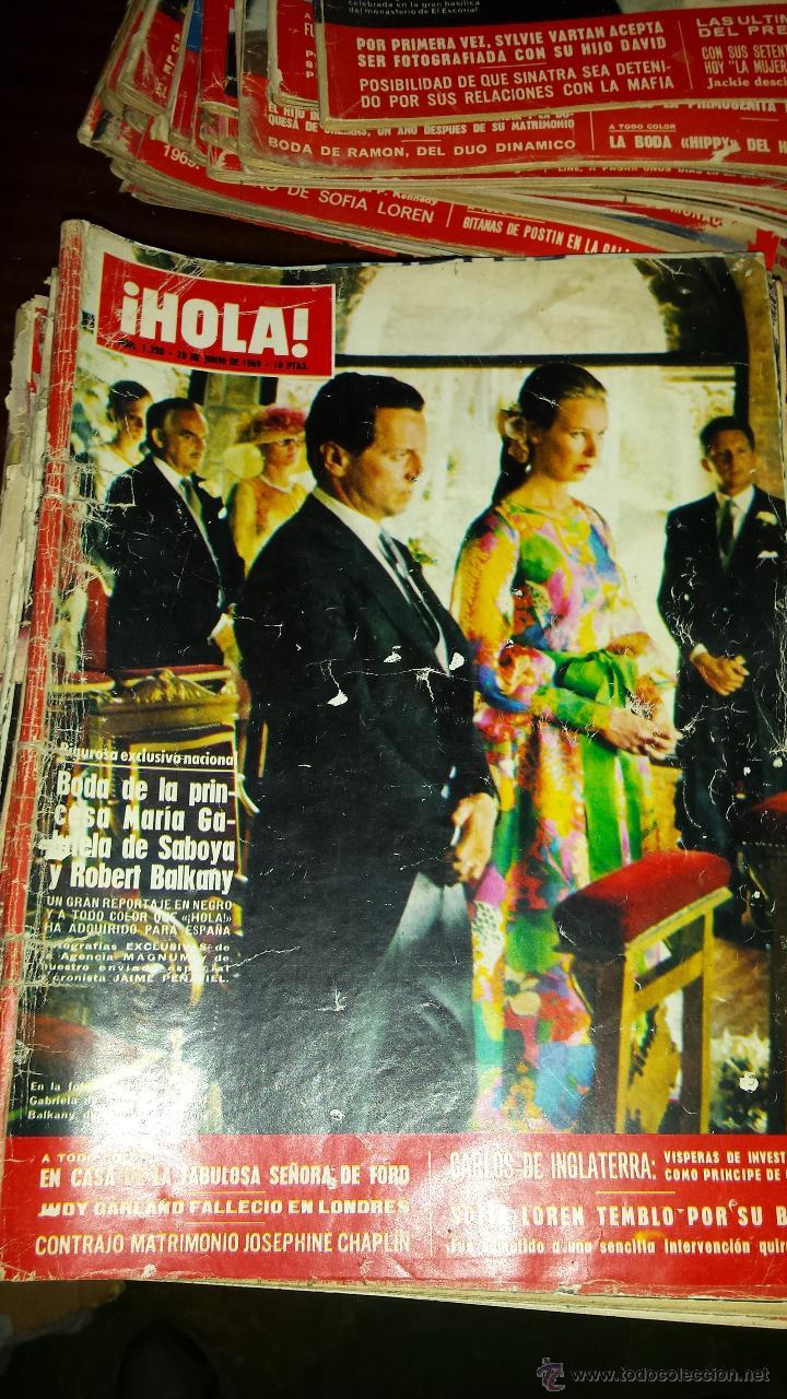 Coleccionismo de Revista Hola: Lote 114 revistas HOLA años 60, 70 y 3 de principios de los 80 - Ver detalles se venden sueltas 5€ - Foto 69 - 117723528