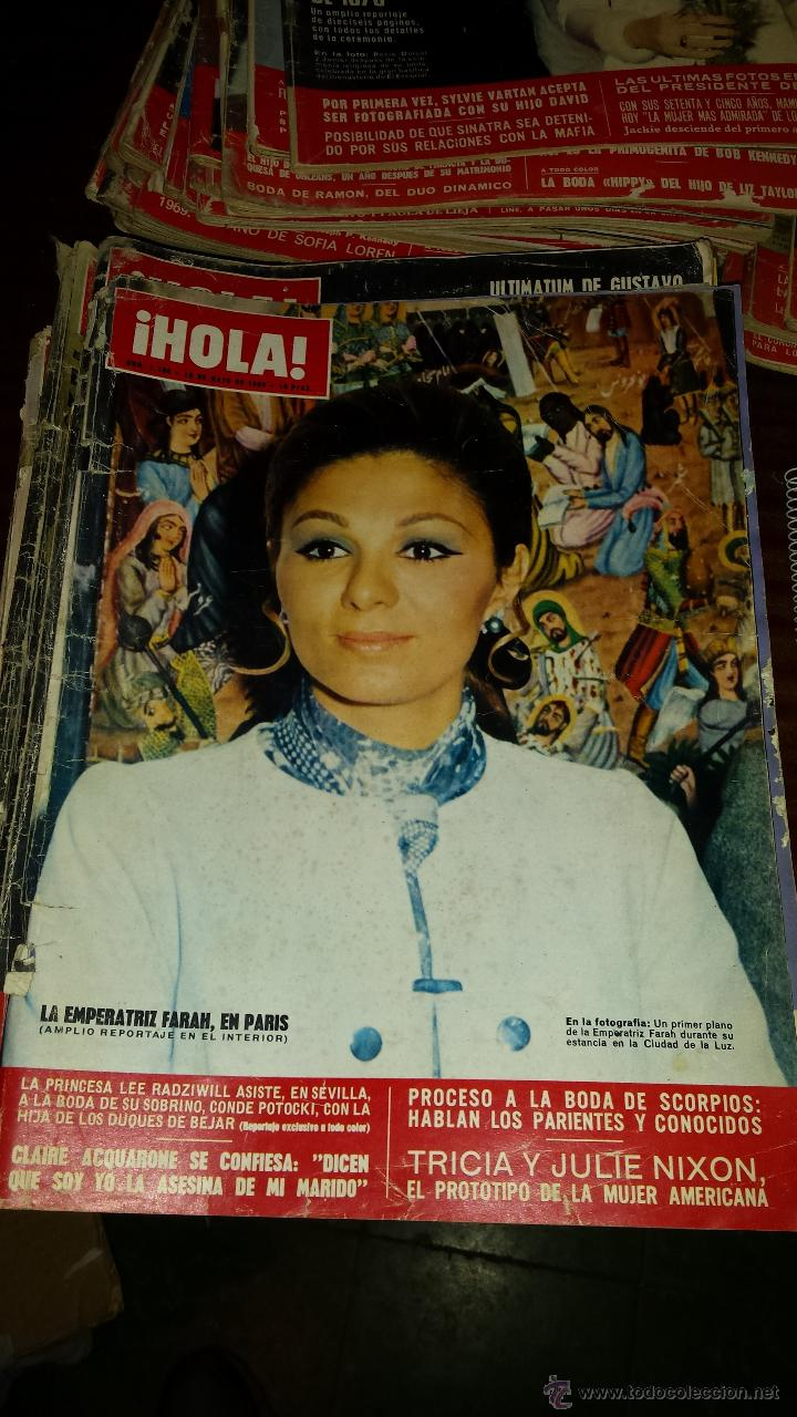 Coleccionismo de Revista Hola: Lote 114 revistas HOLA años 60, 70 y 3 de principios de los 80 - Ver detalles se venden sueltas 5€ - Foto 73 - 117723528