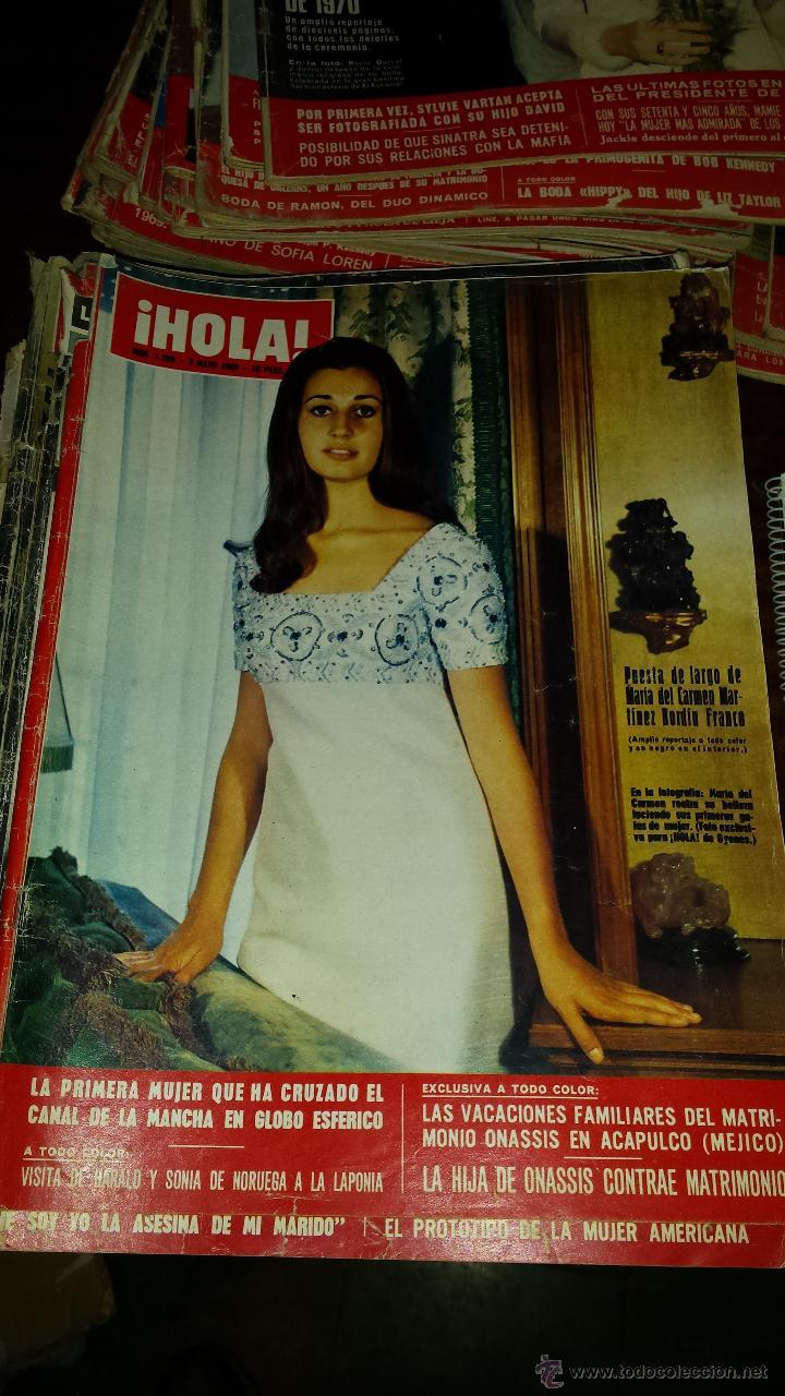 Coleccionismo de Revista Hola: Lote 114 revistas HOLA años 60, 70 y 3 de principios de los 80 - Ver detalles se venden sueltas 5€ - Foto 74 - 117723528