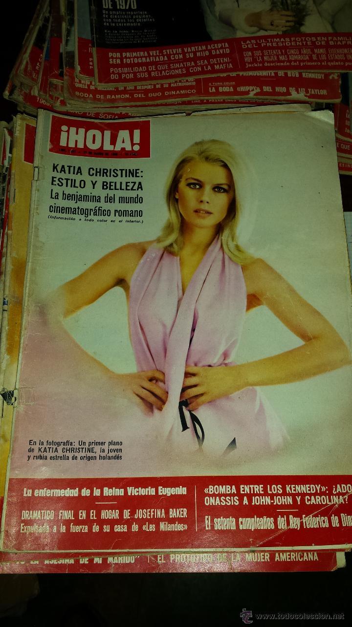 Coleccionismo de Revista Hola: Lote 114 revistas HOLA años 60, 70 y 3 de principios de los 80 - Ver detalles se venden sueltas 5€ - Foto 77 - 117723528