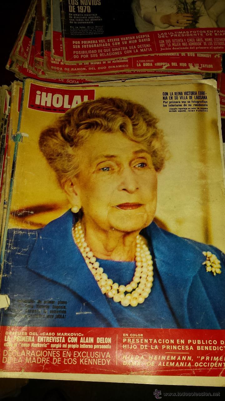 Coleccionismo de Revista Hola: Lote 114 revistas HOLA años 60, 70 y 3 de principios de los 80 - Ver detalles se venden sueltas 5€ - Foto 78 - 117723528