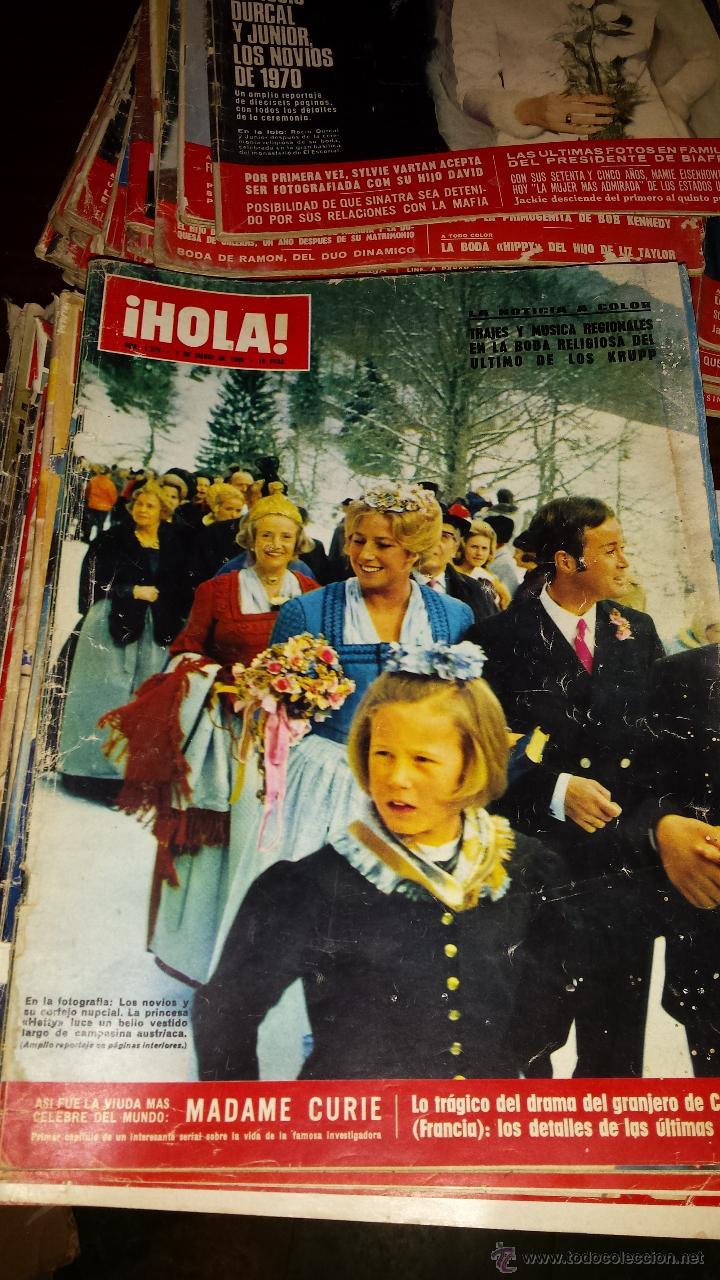 Coleccionismo de Revista Hola: Lote 114 revistas HOLA años 60, 70 y 3 de principios de los 80 - Ver detalles se venden sueltas 5€ - Foto 80 - 117723528