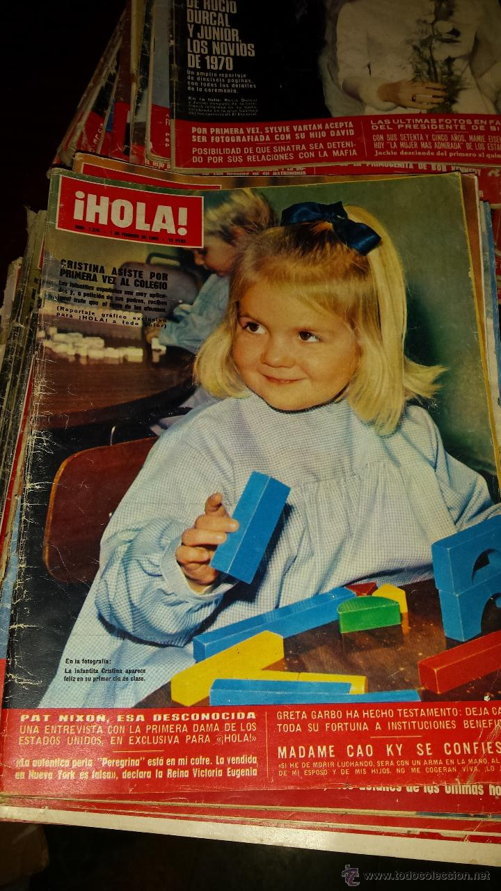 Coleccionismo de Revista Hola: Lote 114 revistas HOLA años 60, 70 y 3 de principios de los 80 - Ver detalles se venden sueltas 5€ - Foto 82 - 117723528