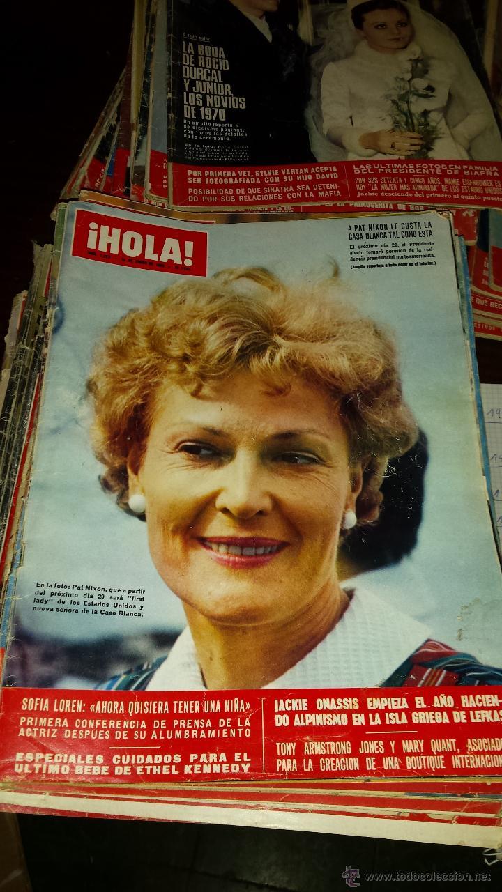 Coleccionismo de Revista Hola: Lote 114 revistas HOLA años 60, 70 y 3 de principios de los 80 - Ver detalles se venden sueltas 5€ - Foto 83 - 117723528