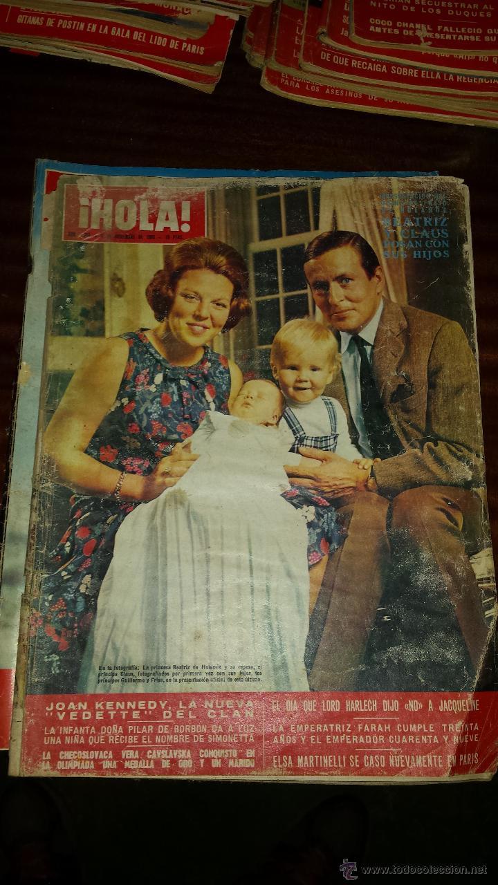 Coleccionismo de Revista Hola: Lote 114 revistas HOLA años 60, 70 y 3 de principios de los 80 - Ver detalles se venden sueltas 5€ - Foto 85 - 117723528