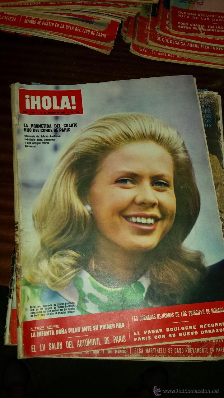 Coleccionismo de Revista Hola: Lote 114 revistas HOLA años 60, 70 y 3 de principios de los 80 - Ver detalles se venden sueltas 5€ - Foto 86 - 117723528