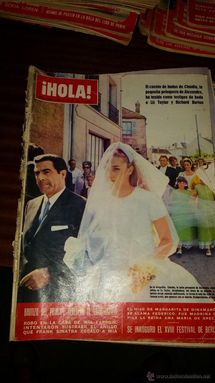Coleccionismo de Revista Hola: Lote 114 revistas HOLA años 60, 70 y 3 de principios de los 80 - Ver detalles se venden sueltas 5€ - Foto 87 - 117723528