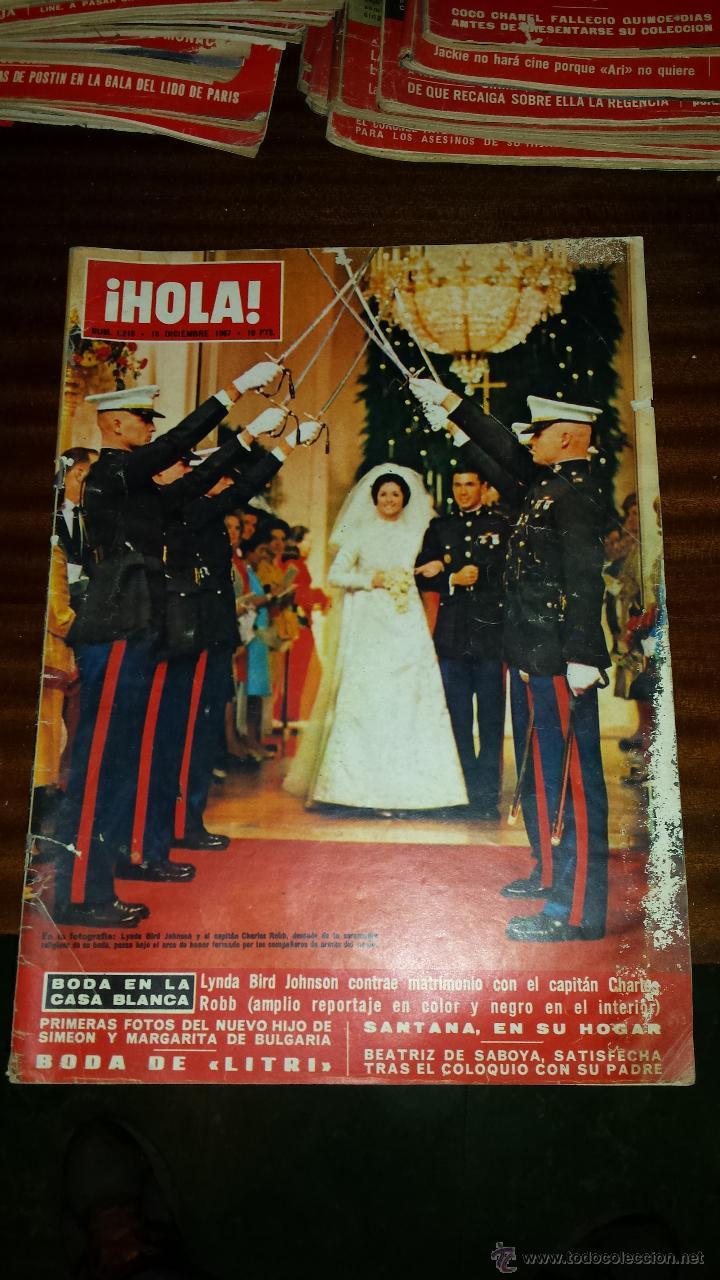 Coleccionismo de Revista Hola: Lote 114 revistas HOLA años 60, 70 y 3 de principios de los 80 - Ver detalles se venden sueltas 5€ - Foto 91 - 117723528
