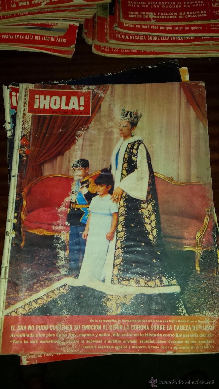 Coleccionismo de Revista Hola: Lote 114 revistas HOLA años 60, 70 y 3 de principios de los 80 - Ver detalles se venden sueltas 5€ - Foto 95 - 117723528