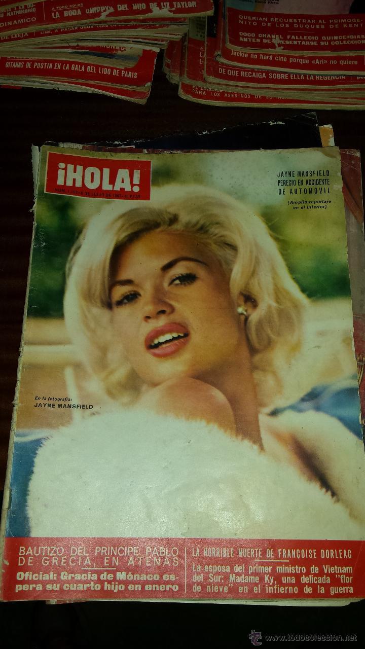 Coleccionismo de Revista Hola: Lote 114 revistas HOLA años 60, 70 y 3 de principios de los 80 - Ver detalles se venden sueltas 5€ - Foto 96 - 117723528