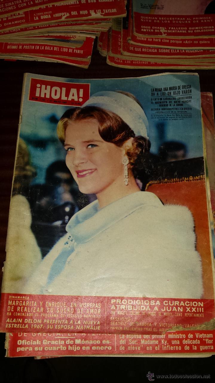 Coleccionismo de Revista Hola: Lote 114 revistas HOLA años 60, 70 y 3 de principios de los 80 - Ver detalles se venden sueltas 5€ - Foto 97 - 117723528
