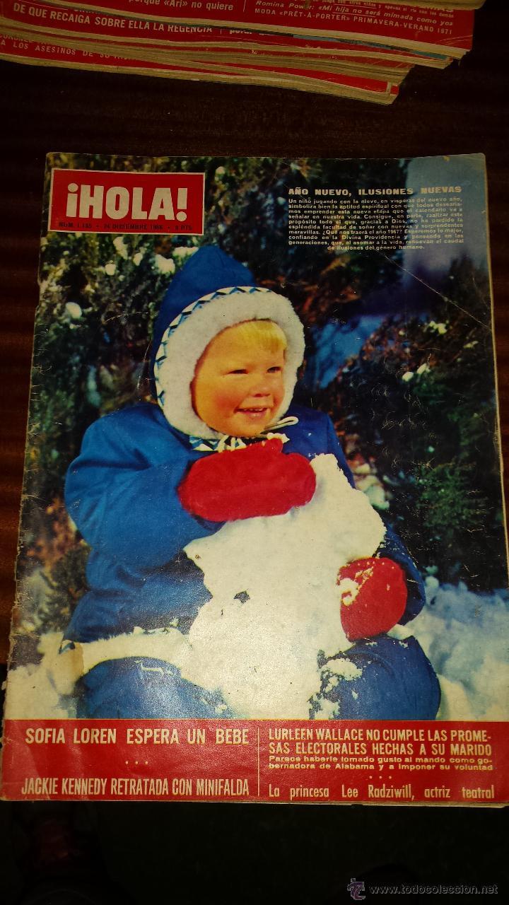 Coleccionismo de Revista Hola: Lote 114 revistas HOLA años 60, 70 y 3 de principios de los 80 - Ver detalles se venden sueltas 5€ - Foto 102 - 117723528