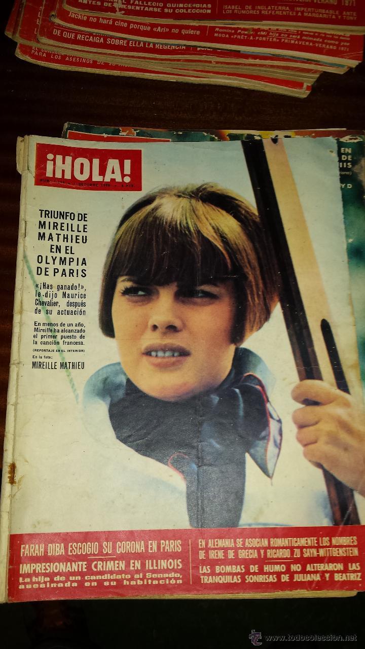 Coleccionismo de Revista Hola: Lote 114 revistas HOLA años 60, 70 y 3 de principios de los 80 - Ver detalles se venden sueltas 5€ - Foto 104 - 117723528