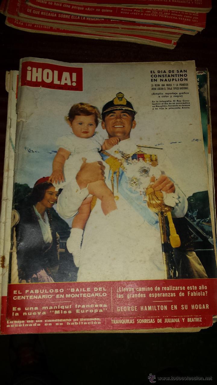 Coleccionismo de Revista Hola: Lote 114 revistas HOLA años 60, 70 y 3 de principios de los 80 - Ver detalles se venden sueltas 5€ - Foto 105 - 117723528