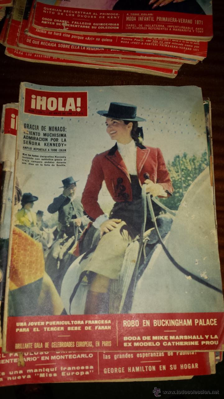 Coleccionismo de Revista Hola: Lote 114 revistas HOLA años 60, 70 y 3 de principios de los 80 - Ver detalles se venden sueltas 5€ - Foto 106 - 117723528
