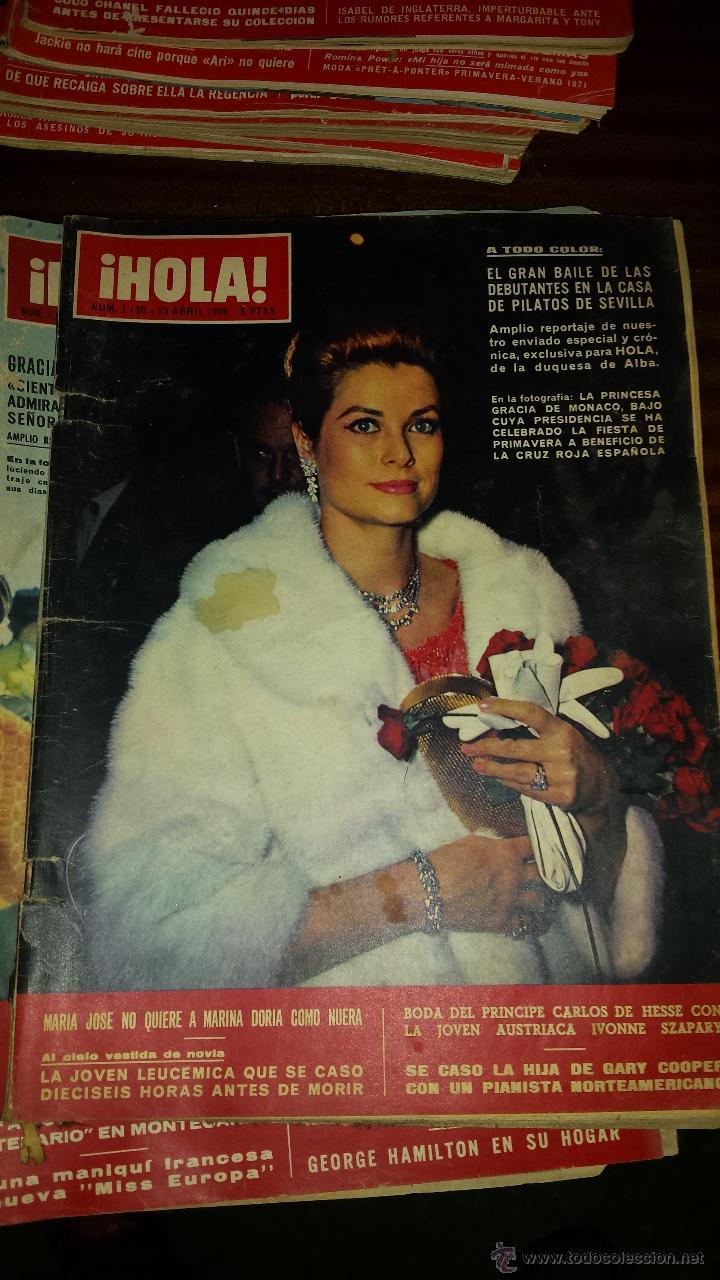 Coleccionismo de Revista Hola: Lote 114 revistas HOLA años 60, 70 y 3 de principios de los 80 - Ver detalles se venden sueltas 5€ - Foto 107 - 117723528