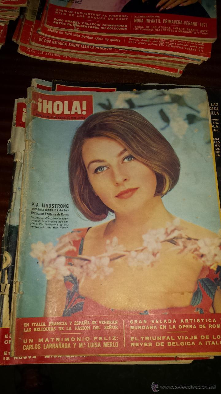 Coleccionismo de Revista Hola: Lote 114 revistas HOLA años 60, 70 y 3 de principios de los 80 - Ver detalles se venden sueltas 5€ - Foto 108 - 117723528