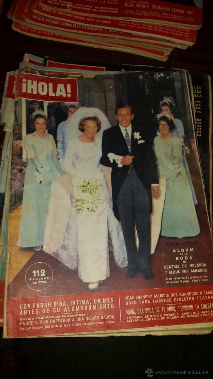 Coleccionismo de Revista Hola: Lote 114 revistas HOLA años 60, 70 y 3 de principios de los 80 - Ver detalles se venden sueltas 5€ - Foto 109 - 117723528