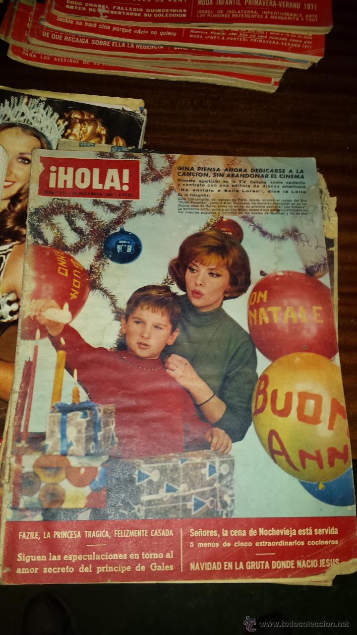 Coleccionismo de Revista Hola: Lote 114 revistas HOLA años 60, 70 y 3 de principios de los 80 - Ver detalles se venden sueltas 5€ - Foto 111 - 117723528