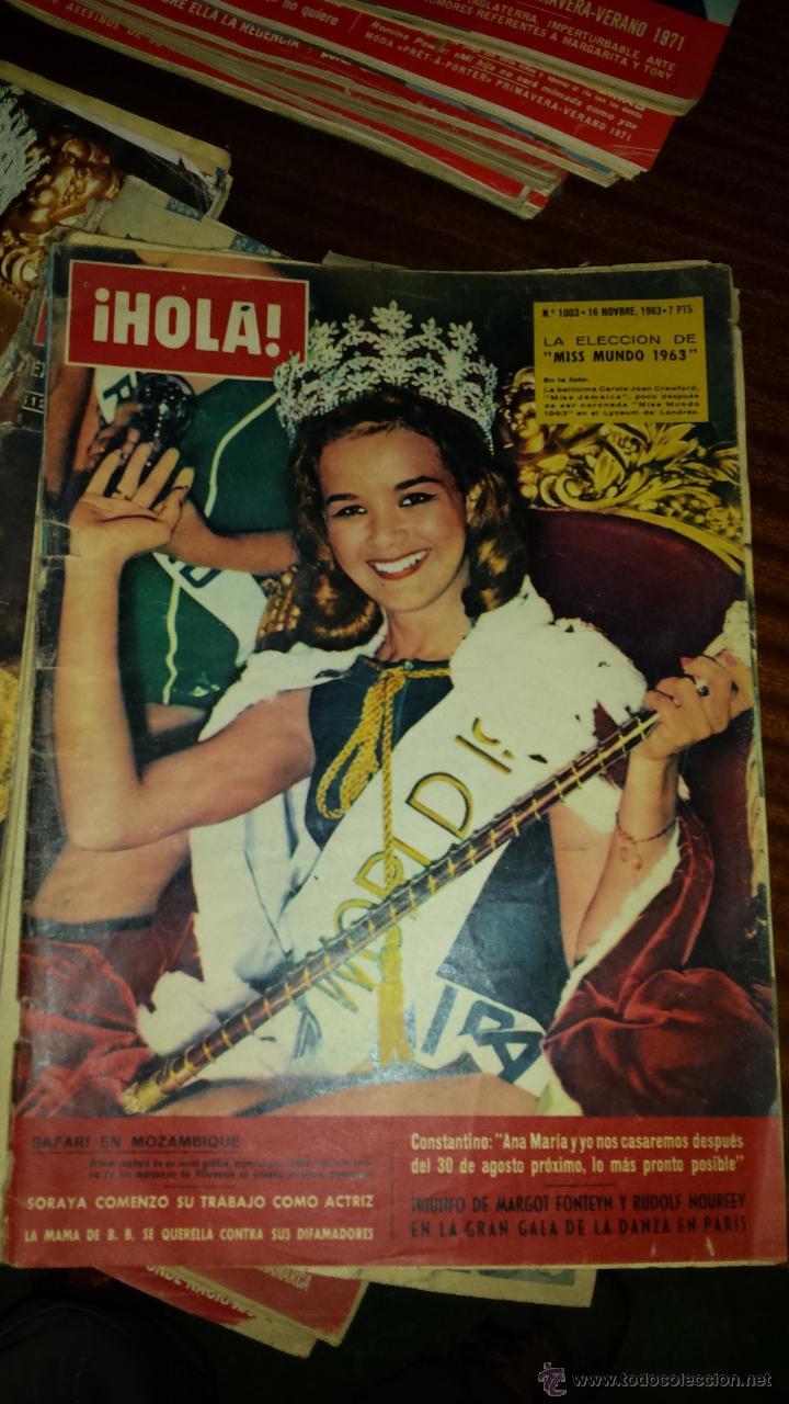Coleccionismo de Revista Hola: Lote 114 revistas HOLA años 60, 70 y 3 de principios de los 80 - Ver detalles se venden sueltas 5€ - Foto 113 - 117723528