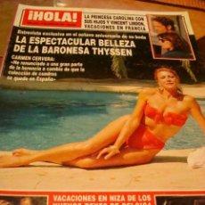 Coleccionismo de Revista Hola: TOM CRUISE- ISABEL PREYSLER- INFANTA CRISTINA- BARONESA THYSSEN. Lote 46123481