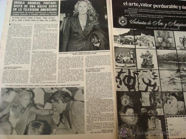 Coleccionismo de Revista Hola: URSULA ANDRESS - Foto 2 - 46191219