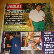 Coleccionismo de Revista Hola: MARTA SANCHEZ- ESTEFANIA DE MONACO- ORNELLA MUTI- DON JOHNSON- CARMEN MORALES- CONCHA VELASCO. Lote 46669833