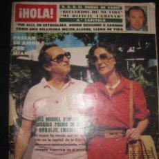 Coleccionismo de Revista Hola: REVISTA HOLA Nº 1999. LUIS MIGUEL DOMINGUIN Y ROSARIO PRIMO DE RIVERA.....18 DICIEMBRE 1982. Lote 46680852