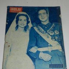 Coleccionismo de Revista Hola: (M-8) REVISTA HOLA N. 925 ,25 MAYO 1962 -ALBUM DE LA BODA DE LA PRINESA SOFIA Y PRINCIPE JUAN CARLOS. Lote 183780076