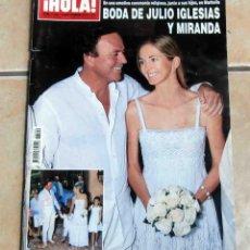 Coleccionismo de Revista Hola: REVISTA HOLA. Nº 3449 AÑO 2010 - BODA DE JULIO IGLESIAS Y MIRANDA, DUQUESA ALBA, MAR FLORES, . Lote 46956975