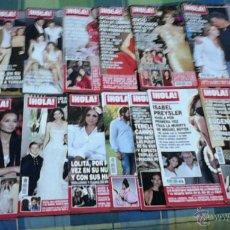 Coleccionismo de Revista Hola: ¡HOLA! LOTE DE 15 REVISTAS.. Lote 48333186