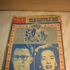 Coleccionismo de Revista Hola: REVISTA HOLA BODA DEL REY BALDUINO DE BELGICA CON DOÑA FABIOLA DE MORA Y ARAGON Nº851 AÑO 1960. Lote 48435865