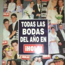 Coleccionismo de Revista Hola: TODAS LAS BODAS 2002 HOLA.JESULIN.. Lote 48716869