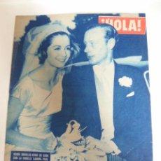 Coleccionismo de Revista Hola: HOLA Nº 777 AÑO 1959 CHARLES CHAPLIN EN MALLORCA, ROBIN DOUGLAS SE CASA SANDRA PAUL. Lote 49868319