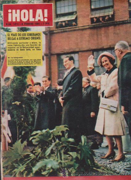 ¡ HOLA ! Nº 1015 - 8 FEBRERO 1964 - 7 PTS. (Coleccionismo - Revistas y Periódicos Modernos (a partir de 1.940) - Revista Hola)