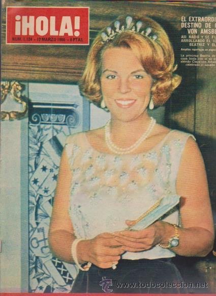 ¡ HOLA ! Nº 1124 - 12 MARZO 1966 - 8 PTS. (Coleccionismo - Revistas y Periódicos Modernos (a partir de 1.940) - Revista Hola)