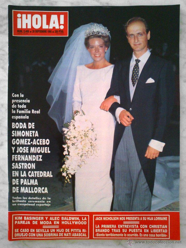Revista Hola Nº 2406 1990 Boda De Simonet Vendido En Venta Directa 50322385