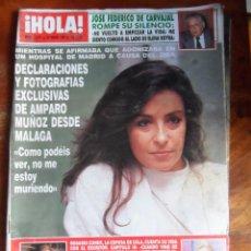 Coleccionismo de Revista Hola: HOLA REVISTA 2372 25 ENERO 1990 JOSE FEDRICO DE CARVAJAL AMPARO MUÑOZ ROSARIO CONDE SANDRA MILO. Lote 50478059