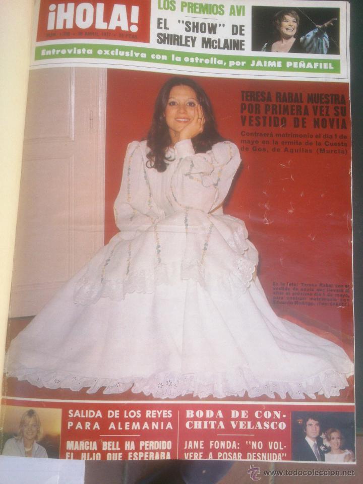 REVISTA HOLA VER FOTOS HISTORIA DE ESPAÑA 14 REVISTAS AÑOS;70S (Coleccionismo - Revistas y Periódicos Modernos (a partir de 1.940) - Revista Hola)