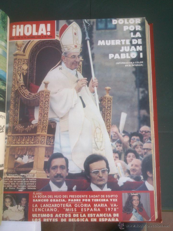 Coleccionismo de Revista Hola: Revista hola VER FOTOS historia de España 14 revistas años;70s - Foto 6 - 51036191