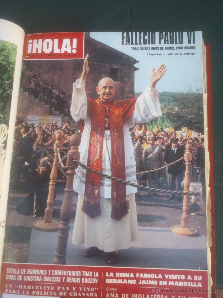 Coleccionismo de Revista Hola: Revista hola VER FOTOS historia de España 14 revistas años;70s - Foto 9 - 51036191