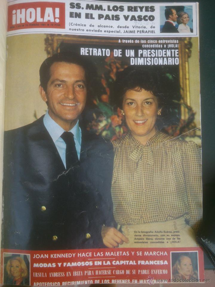 REVISTA HOLA VER FOTOS HISTORIA DE ESPAÑA 13 REVISTAS AÑOS;80S (Coleccionismo - Revistas y Periódicos Modernos (a partir de 1.940) - Revista Hola)