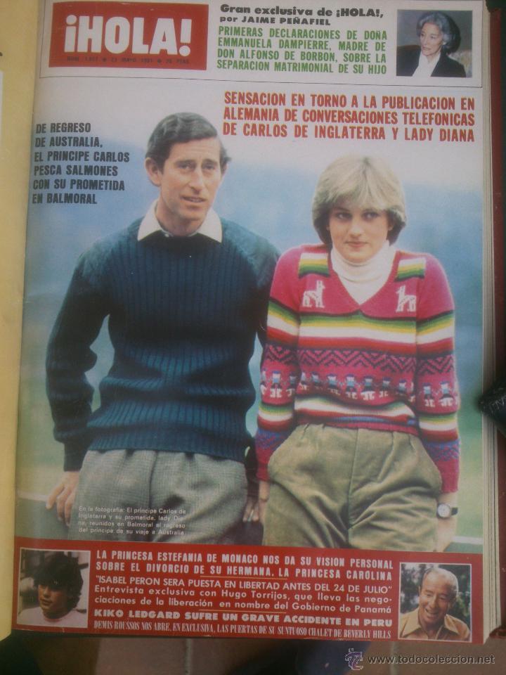 Coleccionismo de Revista Hola: Revista hola VER FOTOS historia de España 13 revistas años;80s - Foto 6 - 51036294