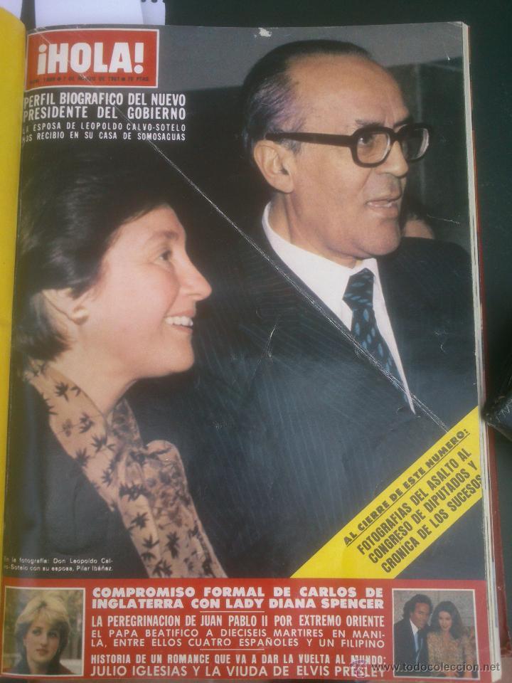 Coleccionismo de Revista Hola: Revista hola VER FOTOS historia de España 13 revistas años;80s - Foto 11 - 51036294