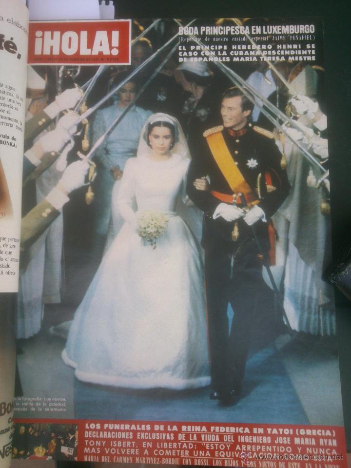Coleccionismo de Revista Hola: Revista hola VER FOTOS historia de España 13 revistas años;80s - Foto 12 - 51036294