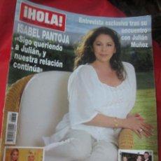 Coleccionismo de Revista Hola: REVISTA HOLA PORTADA ISABEL PANTOJA AÑO 2008. Lote 51178637