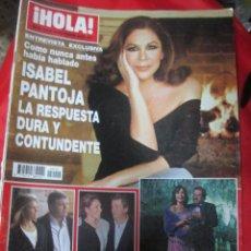 Coleccionismo de Revista Hola: REVISTA HOLA PORTADA ISABEL PANTOJA AÑO 2009 REPORTAJE CARMEN MARTINEZ BORDIU. Lote 51178792