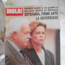 Coleccionismo de Revista Hola: REVISTA HOLA MAGAZINE 1996.ESTEFANIA,RANIERO,ENRIQUE IGLESIAS,PRINCESA DIANA. Lote 52004897